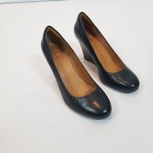 Clarks Women's Black Wedge Heels